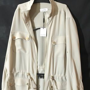 Calvin Klein 1x Tan lightweight Jacket/Shirt